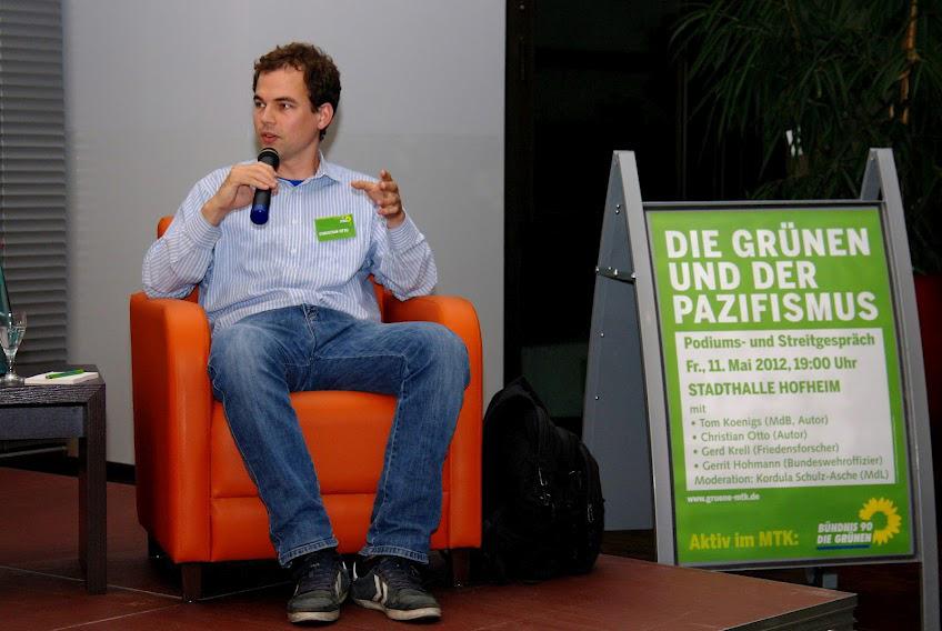Christian Otto: Die Grünen und der Pazisfismus - auf einer Veranstaltung der Grünen Jugend Hessen